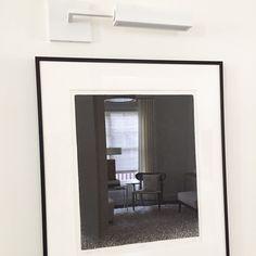 As art can sometimes be, it is difficult to define the real focus here.   #originalart #lighting #design #mcm #reflection ellascottdesign#interiordesign #interiors #urbanelectric #wallsconce #darrylcarterforurbanelectric #midecenturymodern #sittingarea #livingroom #modern #style #dcdesign #bethesdamd