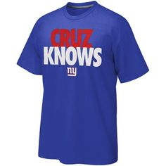 Nike New York Giants Cruz Knows T-Shirt - Royal Blue  Fanatics   PinForPresents 61b251d73