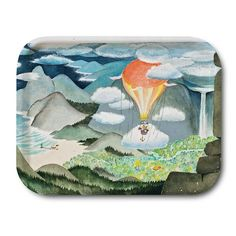 Exquisite tray with beautiful colors, see the lovely Moominvalley on this tray. Handmade tray with a classic motif taken from Tove Jansson's original drawings. Moomin Shop, Moomin Mugs, Les Moomins, Moomin Valley, Tove Jansson, Small Tray, Family Day, Small Island, Scandinavian Design