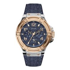 Guess Analog Blue Dial Mens Watch  W0040G6 >>> Click image for more details.