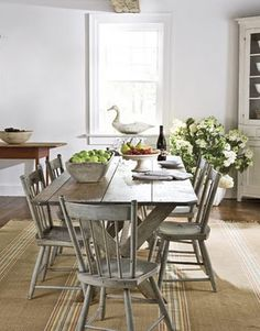 Get the modern farmhouse dining room decor ideas from the table, lighting, chairs, and more. Dining Room Design, Dining Room Table, Table And Chairs, Kitchen Dining, Dining Rooms, Dining Set, Farm Tables, Room Chairs, Wood Tables