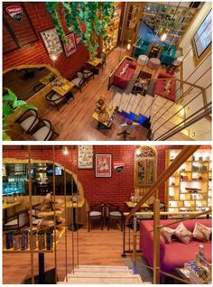 Italian Cafe, Cafe Interior Design, Staircase Ideas, Vibrant, Community, Italian Coffee, Communion