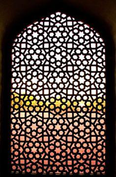 Ornamental window, Humayun's Tomb, Delhi