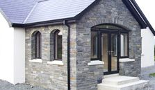 At Sinclair MacCombe Stone Masonry we have extensive experience of building house fronts to your design requirements, we specialise in architectural masonry including flat, round and gothic arches, as well as corbels and natural stone lintels. Stone Masonry, House Extensions, Stone Work, House Front, Sunroom, Natural Stones, Building A House, Porch, New Homes