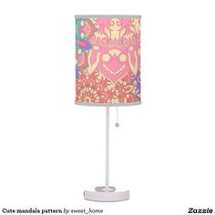Cute mandala pattern table lamp #Home #decor #Room #Interior #decorating #Idea #Styles #Traditional #Boho #Indian #Vintage #floral #motif