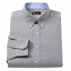 Dusty Orange Chaps Classic-Fit Solid Oxford Button-Down Collar Dress Shirt Button Downs, Button Down Collar, Button Down Shirt, Collar Dress, Shirt Dress, Free Buttons, Work Shirts, Dapper