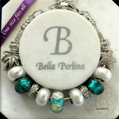 ✨LOWEST PRICE✨ NEW Bella Perlina Bl Charm Bracelet % Authentic NEW Signature Bella Perkins Turquoise & White Pearl Murano Glass Beads, Crystal Divider Beads & Palm Tree & Star Fish Charm Bracelet. ▪ Turquoise, Silver & White Beads  ▪ One Size Fit's Most & Adjustable   Brand New in original box w/o Tag   ✨ FINAL PRICE ~ NO OFFERS ✨   All Sales Final |  Trades or Holds Bella Perlina Jewelry Bracelets