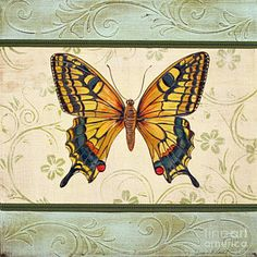 Butterfly Painting - Lovely Butterfly-1 by Jean Plout