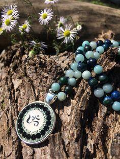 by MalasByTini on Etsy Gemstone Necklace, Beaded Necklace, Beaded Jewelry, Unique Jewelry, Yoga Jewelry, Prayer Beads, Gemstones, Boho, Handmade Gifts