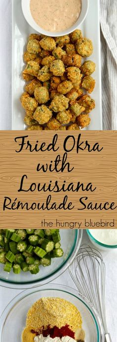 Cornmeal crusted okra with remoulade sauce