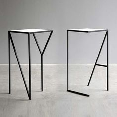 Ligeras como una pluma || The NY and LA Tables feature steel legs that spell out the city they represent. Designed by New York-based studio Faktura. Via I Love Monday.