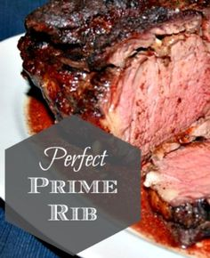 "Perfect Prime Rib ~ Every Time. This is the EASIEST way to cook Prime Rib. Takes the ""fear"" out of cooking Prime Rib, which I know can be a little overwhelming. Beef Dishes, Food Dishes, Dinner Dishes, Main Dishes, Roast Recipes, Cooking Recipes, Prim Rib Recipes, Cooking Fish, Cooking Kale"
