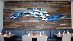 PassionFish in Bethesda Opens with More Sushi and Weekend Brunch : Viridian Reclaimed Wood Good Neighbor Weathered Redwood at Passionfish in Bethesda, MD.