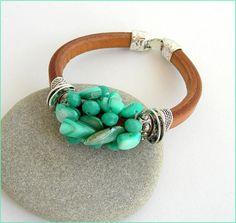 camel/green leather woman bracelet Bracelet Cuir épais Bracelet Cuir, Green Leather, Bracelets, Turquoise Bracelet, Camel, Woman, Etsy, Jewelry, Fashion