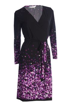 The Iconic Wrapped Dress - Purple Confetti - Kristine's Collection