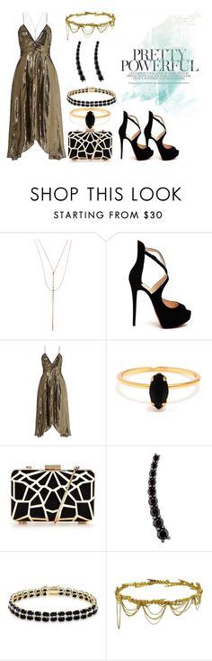 """""""Sweet 16: July"""" by abellaalessi on Polyvore featuring Lana, Christian Louboutin, Talulah, Bing Bang, Alinka, Dolce Giavonna, Jennifer Behr, Summer, gold and black"""