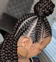 Are you looking for the latest hairstyles 2019 female African braids in African? we have some lovely selected female braids hairstyles to rock this month, Black Hair Bun, Black Girl Braids, Braids For Black Hair, Box Braids Hairstyles, Long Braided Hairstyles, Medium Hairstyles, Hairstyle Ideas, Hair Images, Natural Hair Styles