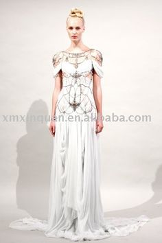 Dress with bead design over the top