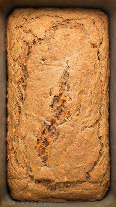 Freshly baked loaf of Healthy Carrot Cake Banana Bread