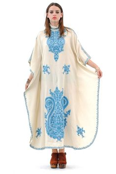 Scarborough Fair Embroidered Caftan Dress $208