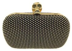 2311f4e308475 Get the trendiest Clutch of the season! The Alexander McQueen Skull Black  Suede Leather Clutch is a top 10 member favorite on Tradesy.