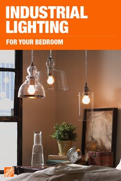 Trendy Bedroom Lighting Ceiling Home Depot 40 Ideas Bedroom Bed Design, Bedroom Decor, Wall Decor, Bedroom Ceiling, Industrial Bathroom Lighting, Bedroom Lighting, Diy Pipe Light Fixture, Home Improvement Projects, Home Projects