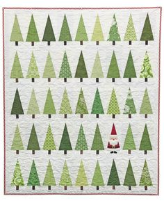 "In The Trees Quilt Pattern Christmas tree quilt with Santa Could combine with ""Snowed on the Mountain.Christmas tree quilt with Santa Could combine with ""Snowed on the Mountain. Christmas Quilt Patterns, Christmas Sewing, Noel Christmas, Christmas Projects, Christmas Tree Quilt Block, White Christmas, Christmas Cards, Diy Quilt, Quilt Inspiration"