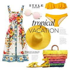 """""""Tropical Vacation.."""" by ornellav ❤ liked on Polyvore featuring Dolce&Gabbana, Lisa Marie Fernandez, Kayu and Olgana"""