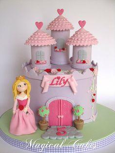 Sleeping Beauty Princess Castle Cake Cake by Magical Cakes