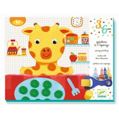 Djeco Sponge Painting Cuddly Toy Adventures This complete set has everything you need to create 4 posters. Working though the illustrated booklet Art Stuff For Kids, Art For Kids, Crafts For Kids, Sponge Painting, Painted Trays, Painting Workshop, Animal Posters, Old Art, Animal Paintings