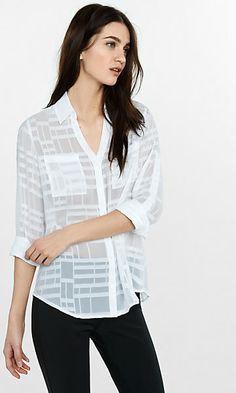 original fit sheer plaid portofino shirt