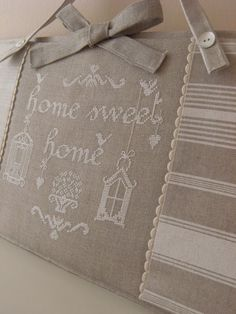 home sweet home Cross Stitching, Cross Stitch Embroidery, Cross Stitch Patterns, Cross Stitch House, Modern Cross Stitch, Cross Stitch Quotes, Cross Stitch Finishing, Embroidery Monogram, Brazilian Embroidery