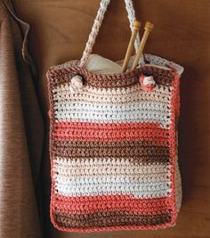 Crochet Tote with Knotted Handles