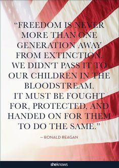 Quotes About America That'll Put You In a Patriotic Mood Ronald Reagan quoteRonald Reagan quote Patriotic Words, Patriotic Quotes, Patriotic Pictures, Patriotic Crafts, Holiday Pictures, Quotes About God, Quotes To Live By, Change Quotes, Ronald Reagan Quotes