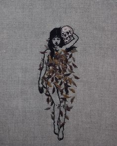 Pre-Winter lookbook. Hand embroidery on natural linen. Enquiries: mail@adipocere.com.au / corinne@beinart.org