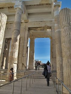Propylaea of Acropolis, Athens, Greece, is the monumental gateway to the Acropolis, built under the general direction of the Athenian leader Pericles, but Phidias was given the responsibility for planning the rebuilding the Acropolis as a whole at the conclusion of the Persian Wars.