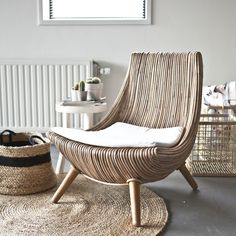 Hancock Fauteuil bruin - By Boo Concrete Furniture, Home Furniture, Furniture Design, Rattan Furniture, Jute Carpet, Cosy Corner, Living Room Carpet, Sofa Chair, New Room