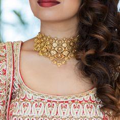 Azva gold jewellery on the WeddingSutra bride #Goldjewellery #luxury #style