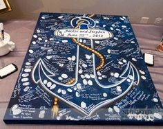 Creative guest book ideas that you can hang in your home after the wedding. Nau… Creative guest book ideas that you can hang in your home after the wedding. Boat Wedding, Yacht Wedding, Cruise Wedding, Diy Wedding, Wedding Navy, Navy Military Weddings, Wedding Beach, Navy Sailor Wedding, Wedding Ideas