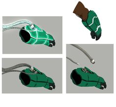"""kevinnelsonart: """"actually, Wasabi's gloves do have a recharging unit built into the top, although they never showed up in the movie """" Concept Weapons, Armor Concept, Concept Art, Wasabi Big Hero 6, Ben 10 Comics, D&d Dungeons And Dragons, Boy Art, Animation Film, Design Reference"""