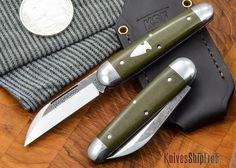 Northwoods Knives: Fremont - OD Green Linen Micarta