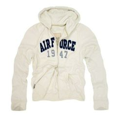 RD Genuine US Airforce Waffle Lined Military Fleece Hoodie - Cream - XX-Large - Full zip with hood. Thermal Waffle Lining. Vintage Military Wash. 3 Layer Applique Logo. Slim fit military zip up sweatshirt with hood.  #Rapid_Dominance #Apparel
