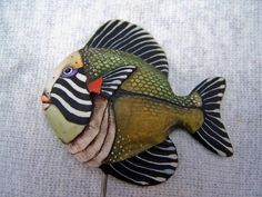 Pottery Animals, Ceramic Animals, Clay Animals, Fish Wall Art, Fish Art, Paper Clay, Clay Art, Zentangle, Clay Fish