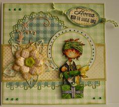 Heidebloempjuh 3d Cards, Marianne Design, Copics, Vintage Cards, Daisy, Layout, Diy Crafts, Scrapbook, Handmade Cards