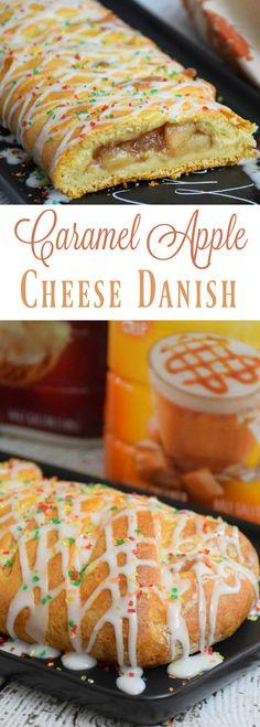 Easy to assemble Caramel Apple Cheese Danish #SplashofDelight #ad