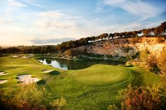 The 18th hole at Lumine Hills, Spain