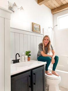 Bathroom Kids, Bathroom Renos, Small Bathroom, Kids Bath, Lake House Bathroom, Warm Bathroom, Washroom, White Bathroom, Hemnes