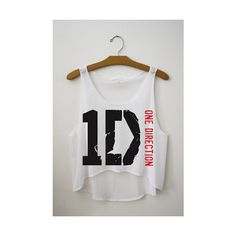 1D One Direction Cropped Tank Top ($24) ❤ liked on Polyvore
