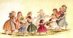 Eleven Girls Dancing by Tasha Tudor