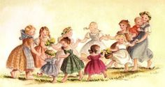 Eleven Girls Dancing by Tasha Tudor